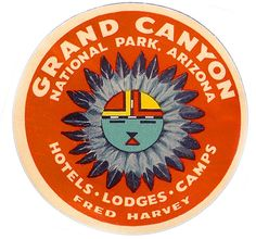 Grand Canyon (from Art of the Luggage Label photo stream) Grand Canyon Arizona, Grand Canyon National Park, National Parks, Luggage Stickers, Luggage Labels, Vintage Luggage, Vintage Travel Posters, Decoupage, Logos Retro