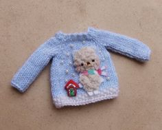 Bear sweater for Blythe snowing time original from Dolls are good