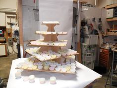 "5 Tier Square ZIGZAG XXL Cake / Cupcake Stand 1/2"" mdf Holds 200 PLUS / Wedding cupcake stand wooden by FranksCrafts on Etsy https://www.etsy.com/listing/101843865/5-tier-square-zigzag-xxl-cake-cupcake"