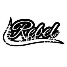 Rebel - Schriftzug