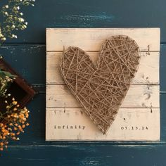 5th Wedding Anniversary Gift Fifth For Him Her Wood 14 X