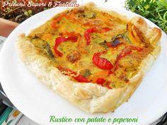 Rustico con patate e peperoni  Blog Profumi Sapori & Fantasia