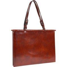 HIDESIGN by Scully Slim Fashion Tote Handbag Brief,Mahogany,one size