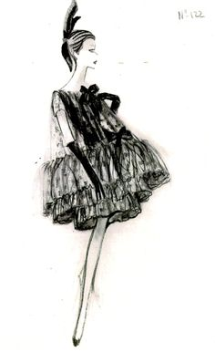 Balenciaga.dress - sketch