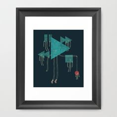 The Joy of Playing Framed Art Print by Hector Mansilla - $32.00