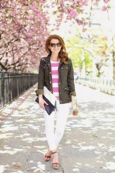 White Denim Outfit Inspiration @Gemma Ocampo-Sioson Guide @MacKenzie Horan {Design Darling}