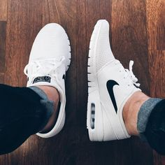 #nike White and black