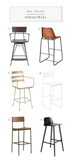 industrial bar stool roundup   via coco+kelley