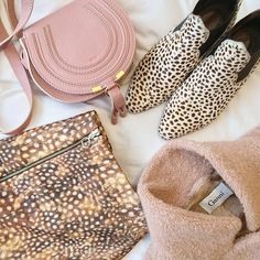 Blush tones & animal prints for a spot of last minute present buying
