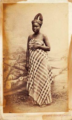 Portrait of a Fante woman