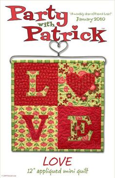 love quilt pattern | LOVE mini quilt by gary685079 | Quilting Pattern