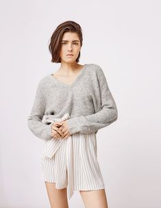 Stylein - Elvira Sweater in light grey Fall 2018, Grey, Sweaters, Gray, Pullover, Sweater, Repose Gray, Pullover Sweaters