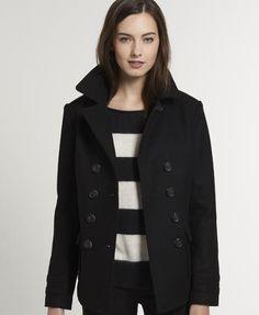 Superdry Liberty Bell Peacoat - Women's Jackets & Coats