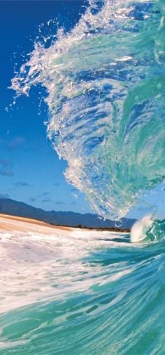 Hawaii Sandy Beach and crystal blue wave.... looking forward to being there in a few weeks. No place like Hawaii www.chicasurfadventures.com/hawaii-surf-camp