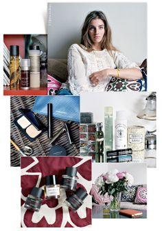inside the bathroom cupboards of Sonia Sieff, beauty, make-up, hair