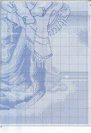 Solo Patrones Punto Cruz 7/7 Virgen con Nino
