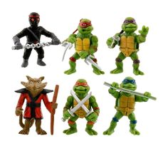 """Teenage MUTANT Ninja TURTLES 6pc Action Figure CAKE TOPPER 2"""" Party Favor NEW #JPartyTime"""