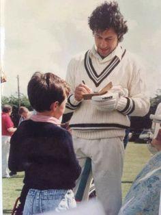 Australian Test Cricketer Ed. Cowan taking Autograph from Imran Khan in his childhood