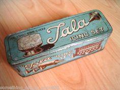 decorations: 1950's tala icing set tin