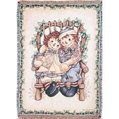 Raggedy Ann & Andy in Chair Throw