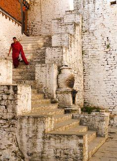 Monastery steps in Bhutan