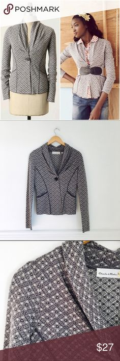 Charlie & Robin jacket Coyote Star blazer sweater by Charlie & Robin. Tailored knit jacket emblazoned with a classic native american motif. Button closure, front pockets. Wool and acrylic. Great preowned condition. Size S. Anthropologie Sweaters Cardigans