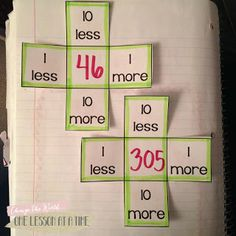 Hundreds Chart Flaps - 1 More, 1 Less, 10 More, 10 Less (Freebie!)
