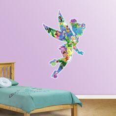 Disney Fairies Montage REAL.BIG. Fathead – Peel & Stick Wall Graphic | Disney Fairy Wall Decal | Disney Decor | Bedroom/Playroom/Nursery