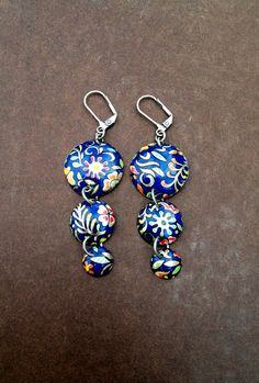 Bianca Earrings  Vintage Tin Jewelry Recycled by SweetSageJewelry, $25.00
