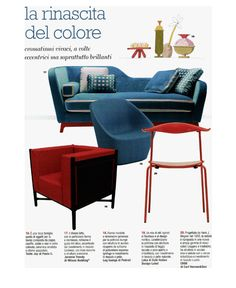 Cose di casa magazine, April issue, features Jeremie sofa bed, in the Trendy version