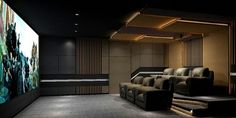 3 Dream Home Theaters: Electronic House Award-Winners - Electronic House Note: Home hub Sure, home is where in actuality the heart is. Home Theater Room Design, Home Cinema Room, Home Theater Decor, At Home Movie Theater, Best Home Theater, Home Theater Speakers, Home Theater Rooms, Home Theater Seating, Home Interior Design