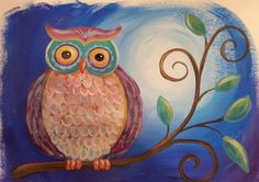 Owl Acrylic Painting Tutorial | Live Stream Event | Free Tutorial