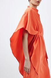 Asymmetric Waterfall Dress By Boutique