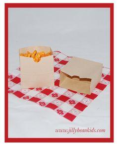 Brown Kraft Snack Sacks. So cute! Jilly Bean Kids www.jillybeankids.com
