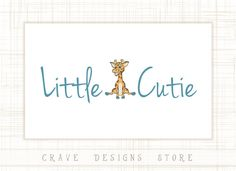 Giraffe Kids Logo Premade Design Children by CraveDesignsStore