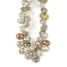 "1 Line - #""Gray Diamond Drops"" - 83.00 cts - 3.8 x 3.2 mm to 8.1 x 6.8 mm (DIADRP1028)   Beacab.com: Diamond Drops"