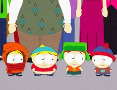 Kenny, Cartman, Kyle and Stan were in preschool...telling people they were fireman and can put out a fire by peeing on it...