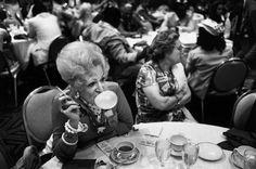 old lady gumming