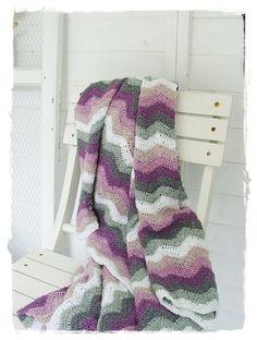 crochet / gehäkelte Granny-Decke