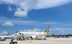 Cayman Airways ready for take off at Owen Roberts Airport in Grand Cayman!