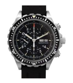Marathon Watch CSAR Swiss Made Military Issue Chronograph Pilot Automatic Watch with Tritium - Available with Rubber Strap or Stainless Steel Bracelet Fossil Watches For Men, Cool Watches, Wrist Watches, Men's Watches, Marathon Watch, Swiss Automatic Watches, Watch Sale, Stainless Steel Bracelet, Casio Watch