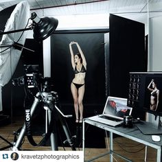 #photography @kravetzphotographics Backstage look at the shoot with #Model…