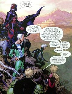 Hulkling with his future in-laws.