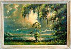 Florida Highwaymen Painting. Willie Daniels, 24 x 36, upson board, original frame. It would be an honor to own one!