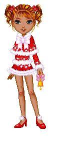 Candy Doll Animadas: Mamãe noel negras fofas