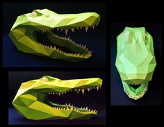 It's an easy build though I spent more time on the teeth than the actual head. The teeth and eyes can be printed on a different color of cardstock. The final dimensions are 32cm long by about 16cm ...