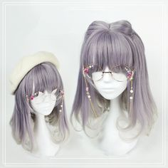 """Purple gray gradient harajuku lolita wigs Use the code """"cherry blossom"""" at www.Sanrense.com for a 10% discount!"""