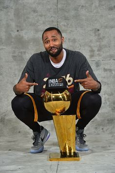 Mo Williams of the Cleveland Cavaliers poses for a portrait after winning the NBA Championship against the Golden State Warriors during the 2016 NBA...