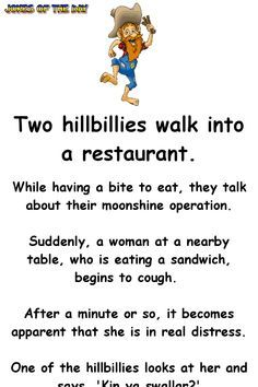 Funny Hillbilly Joke - The hillbilly shocks the woman when he does this to her Best Picture For Silly Jokes For Your Taste You are looking for something, and it is going to tell you exactly what you a Funny Long Jokes, Clean Funny Jokes, Corny Jokes, Funny Jokes For Adults, Funny Fails, Funny Texts, Funny Quotes, Short Clean Jokes, Hilarious Dirty Jokes