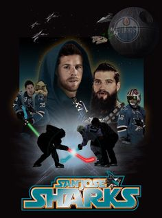 May The Force Be With You I just want to say. the casting is perfect! Nhl Hockey Jerseys, Hockey Players, Sf Niners, Cool Sharks, Star Wars Games, International Teams, San Jose Sharks, Vancouver Canucks, Shark Tank